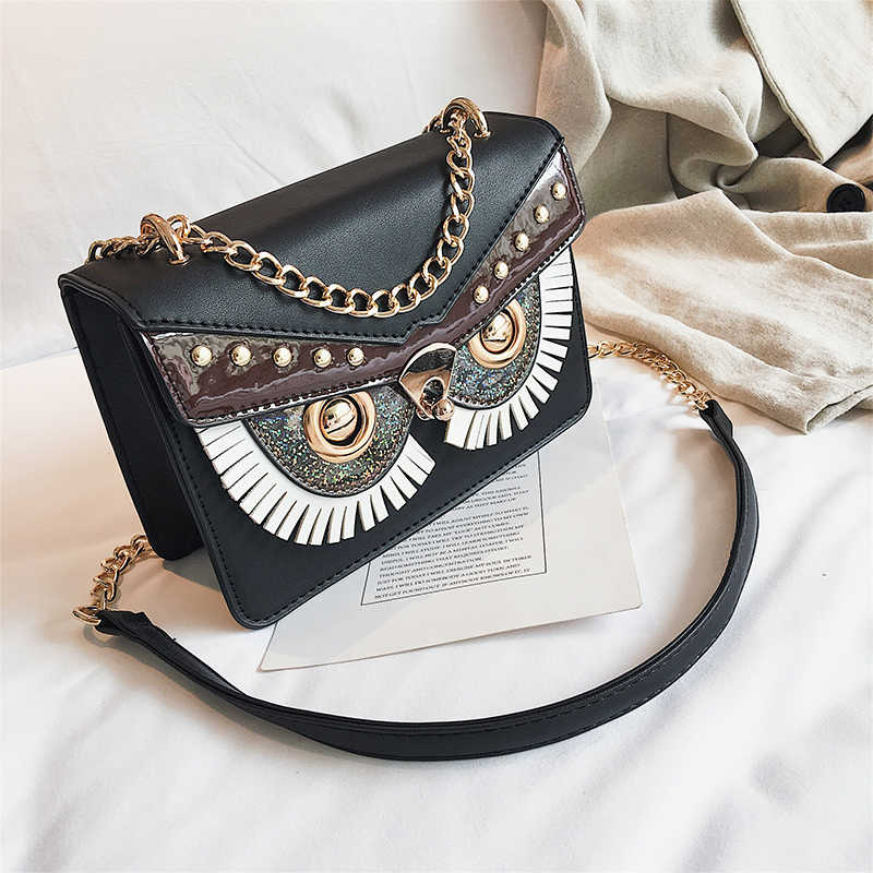c431141c5 ... Famous Brand Trendy Owl Designer Flap Bag Female Handbags Party Purse  Women's Crossbody Messenger Bags Sac