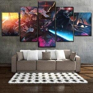 5 Peças Poster Anime Espada de Arte Em Linha II Cópia Da Lona de Arte Da Parede Pintura Quadro Decorativo Para Quarto Moderno Sala de estar