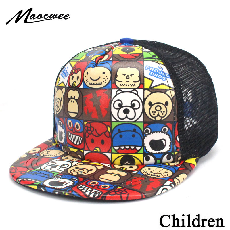 Cute 2018 Snapback Hat Kid's Children Unisex Baby   Baseball     Cap   Girl Boy   Cap   Hip-hop   Caps   for Kids Drop shipping Summer Hats