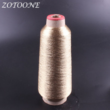 ZOTOONE Metallic Gold Embroidery Thread Sewing Polyester Supplies Wholesale For Jeans Clothes DIY Handmade