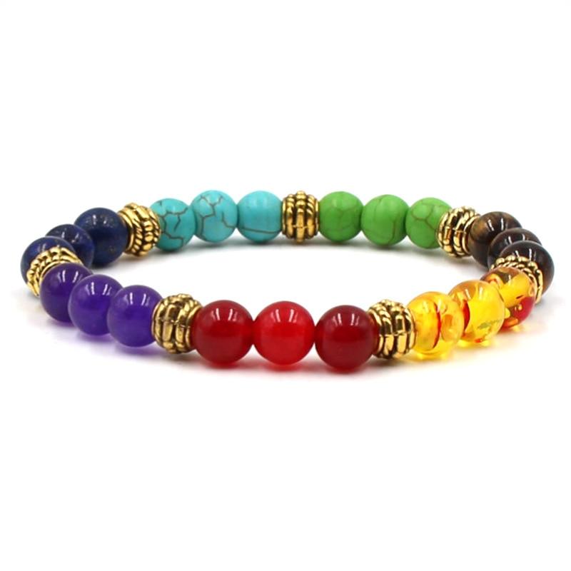 1 Pcs 8mm Natural Stone Beaded Bracelet Buddha Bless Lose Weight Charm Bracelet Women Man Jewelry Best Friend Gifts