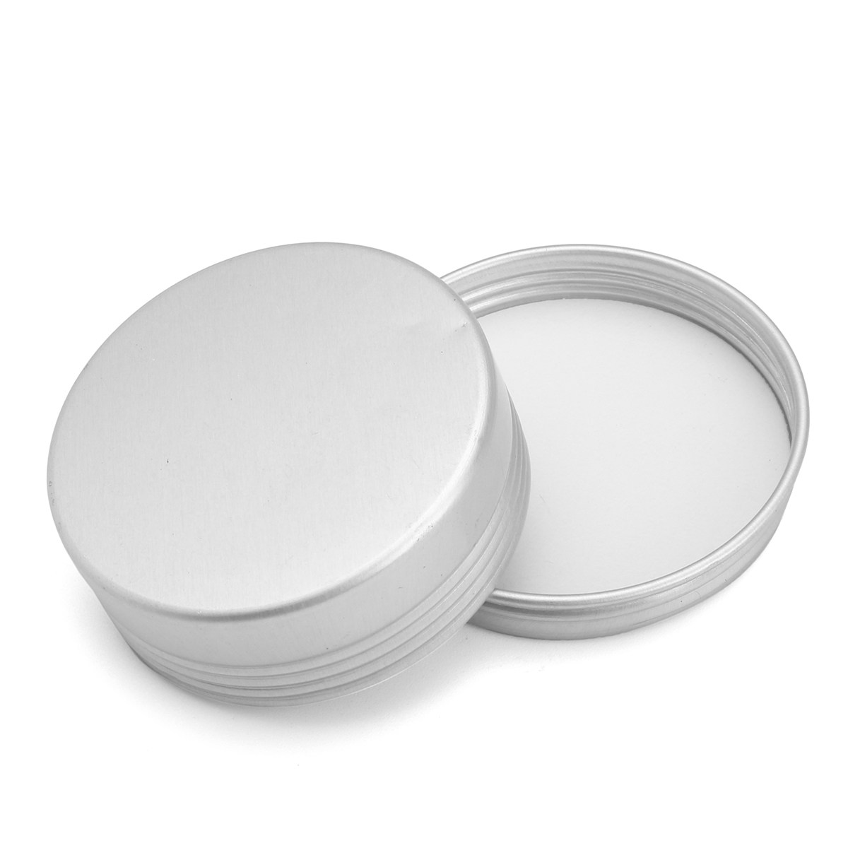 b159a9c9e53e US $8.85 |24pcs 25g Empty Aluminum Cans Silver Round Cosmetic Cream Jar  Hair Wax Case Lip Balm Container Makeup Tin Pot + Screw Thread Lid-in ...