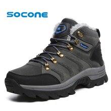 651a3419bc SOCONE 2019 impermeable hombres senderismo botas invierno cálido escalada zapatos  hombres al aire libre botas de seguridad con p.
