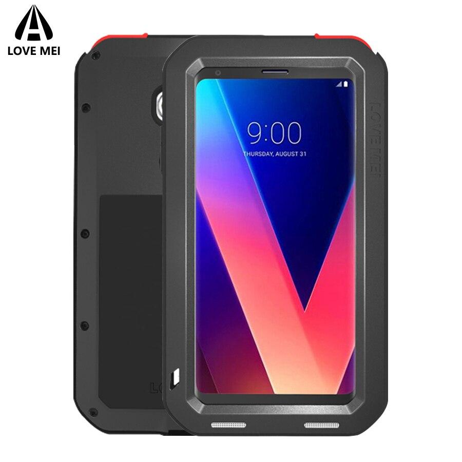 Love Mei Armor Metal Case For LG V30 V20 V10 Cover Powerful Aluminum Shockproof Life Waterproof Case For LG V30 V20 V10 Case