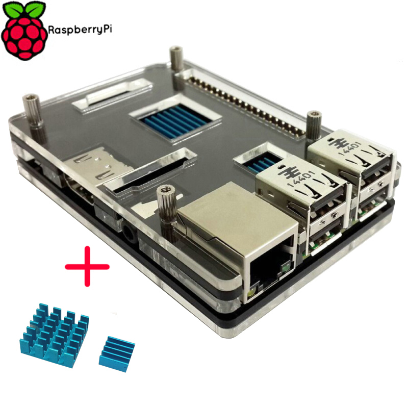 Heat Sink Kit for Raspberry Pi 3 Official Case Enclosure Box Shell Cover