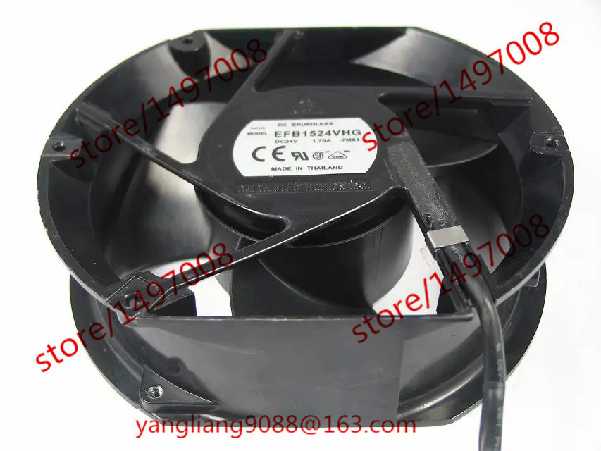Free Shipping For Delta EFB1524VHG, -7M61 DC 24V 1.70A, 4-wire 4-pin 100mm 170x170x50mm Server Square cooling fan free shipping for delta pfb0848dhe ck2a dc 48v 1 00a 80x80x38mm 4 wire server square cooling fan