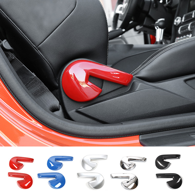 MOPAI Car Interior Seat Backrest Adjust Handle Lever Decoration Cover ABS Stickers For Ford Mustang 2015