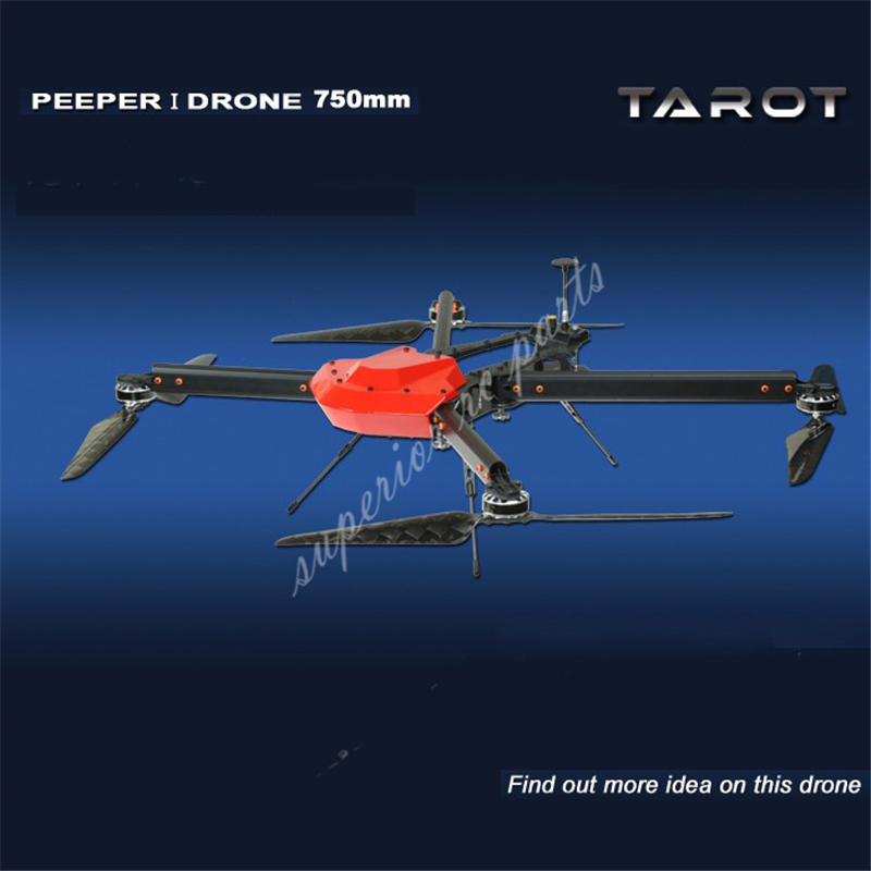 Tarot Peeper I Drone 750mm FPV Quadcopter Frame 4 Axis UAV Phantom UFO with Propeller Motor ESC Power Distributor TL750S1 16pcs 8 pairs 10 blade propeller 1045 brushless motor for qav250 dron drones drone frame parts kit fpv quadcopter frame