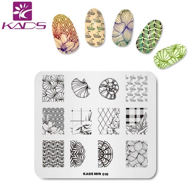KADS Nail Stamping Plate Flower Fashion Design Manicure Stencils ...