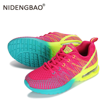 Womens Running Shoes Breathable Air Cushion Sneakers Lightweight Wave Pattern Sports for Female Jogging Walking