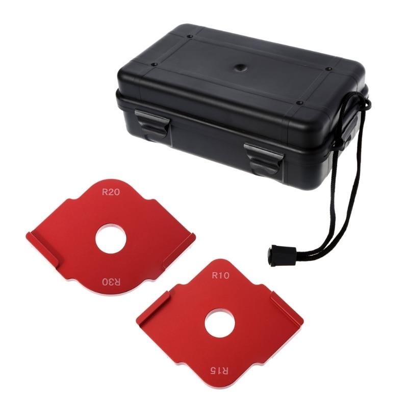 2 Pcs Wood Panel Radius Quick-Jig Router Table Bits Jig Corner Templates Kit
