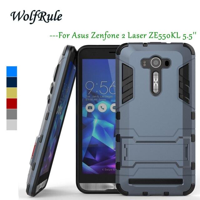 Anti-knock Case Asus Zenfone 2 Laser ZE550KL Cover 5.5'' Soft Silicon+Hard Plastic Case For Asus Zenfone 2 Laser ZE550kl Case ><