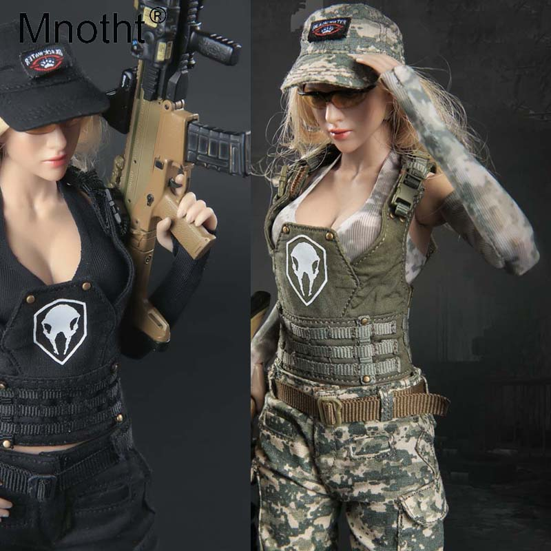 Mnotht 1 6 Scale Female Soldier FG048 Tactical Female gunmen series Suit With Sports underwear Baseball