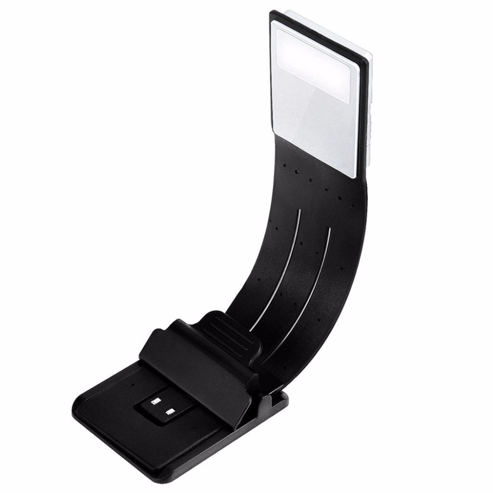 Aimbinet Book Light Bookmark-Clip on LED Reading Light-Flexible E-Reader Light with USB Rechargeable, Black