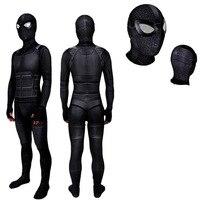Spider Man Far From Home Stealth Suit Costume Spiderman Noir Cosplay Black Bodysuit Suit Jumpsuits Superhero Halloween costume