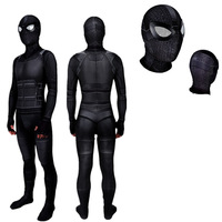 Spider Man Far From Home Stealth Suit Costume Spiderman Noir Cosplay Black Bodysuit Suit Jumpsuits Superhero Halloween costume