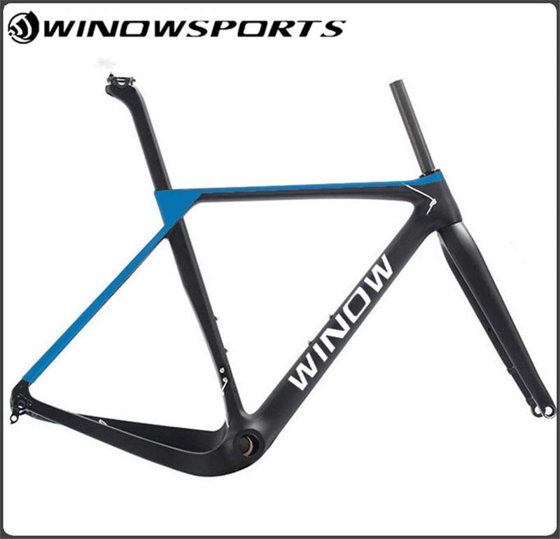 2018 Winow Gravel Bike Frame DI2 Compatible Gravel Frame Full Carbon Fiber Gravel Bike Frame Thru-axle
