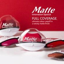 Makeup Full Coverage Lipstick Velvety Matte Lasting Waterproof Lip Gloss Sexy Red Tint