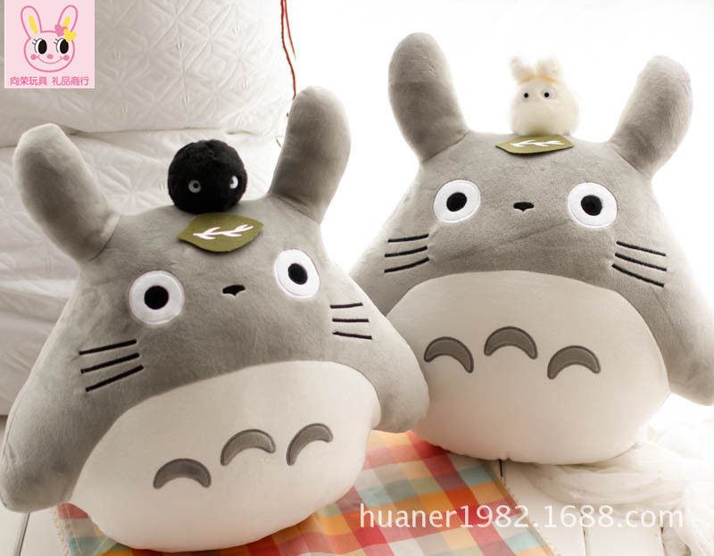 Super cute soft hayao miyazaki totoro plush toys 50 cm Two styles Choose 1pcs stuffed animal cushion birthday gift for kids cute animal soft stuffed plush toys purple bear soft plush toy birthday gift large bear stuffed dolls valentine day gift 70c0074