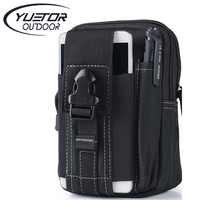 Brand YUETOR Universal Outdoor Sport Tactical Molle Waist Bags 5 5 6 Inches Waterproof Phone Cases