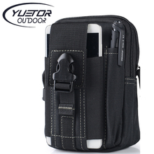YUETOR Universal Outdoor Sport Tactical Bag Molle Waist Nags 5.5/6 Inches Waterproof Phone Cases 600D Oxford Tactical Pouch