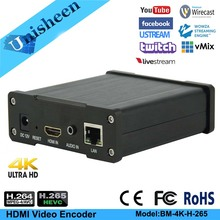 Encodeur vidéo HDMI 4 K Unisheen UHD diffusion en direct IP IPTV vmix Youtube Facebook Ustream Wowza Rtmp M3U8 Onvif
