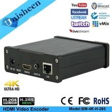 Unisheen 4K HDMI Video Encoder UHD Live Streaming IP IPTV vmix Youtube Facebook Ustream Wowza Rtmp M3U8 Onvif