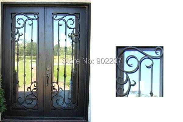 Aliexpress.com: Acheter Design personnalisé porte d\'entrée en fer ...