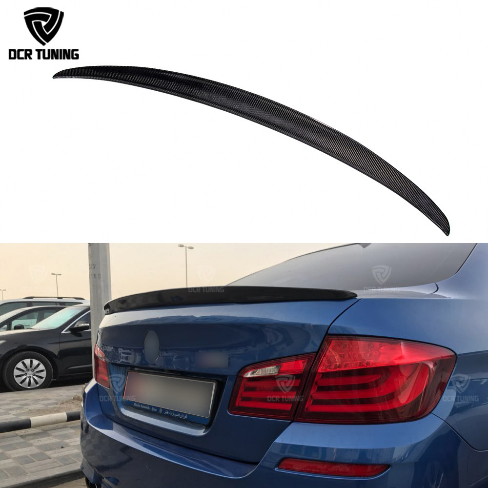 P Style For BMW F10 Spoiler Performance 2010-2016 5 Series Sedan F10 Carbon Spoiler F10 M5 Rear Trunk Wings car styling цены