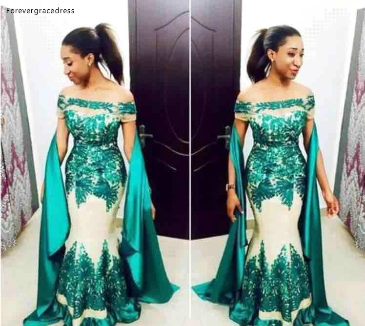 South African Black Girls   Prom     Dresses   2019 Hunter Green Appliques Pageant Holidays Graduation Wear Formal Evening Party Gowns