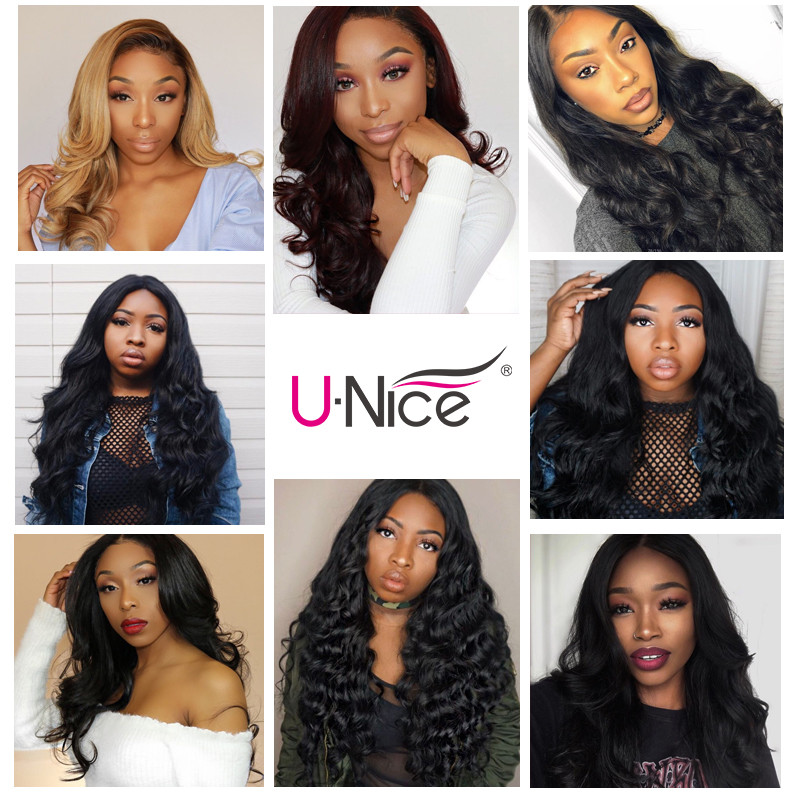 """Image 5 - UNice Hair Icenu Remy Hair Series Brazilian Body Wave Lace Frontal Free Part Ear to Ear Human Hair Lace Closure Size 13""""x4""""-in Closures from Hair Extensions & Wigs"""