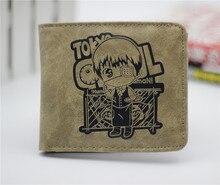 Anime de japón tokio Ghoul cartera QQ estilo cosplay billetera hombres y mujeres estudiantes personalidad corta de dibujos animados monedero de moda