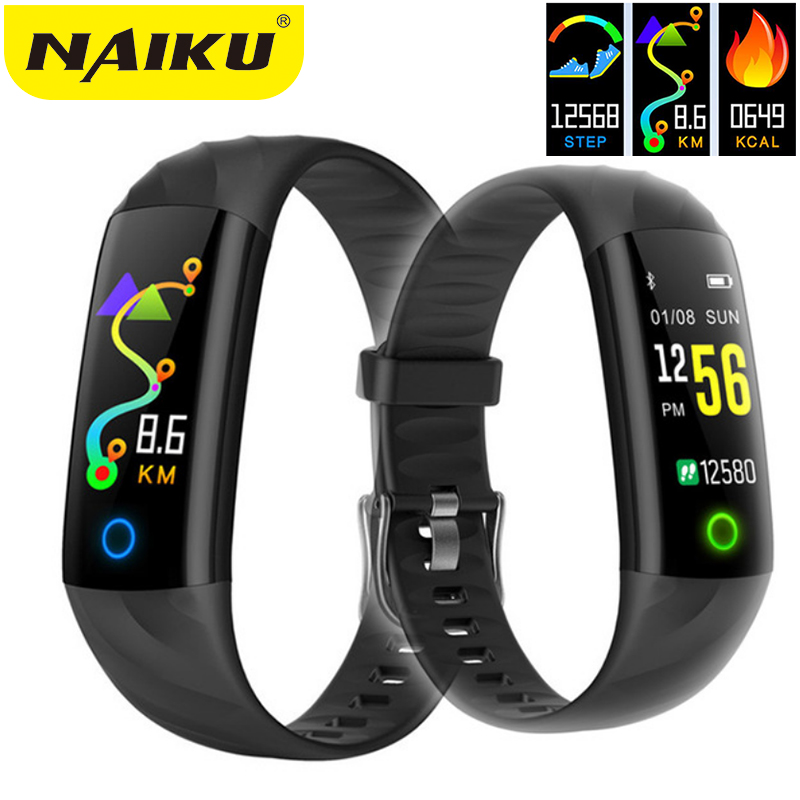 NAIKU Heart Rate Fitness Bracelet IP68 Waterproof Blood pressure oxygen Monitor Color Screen Activity Tracker Smart Band цена