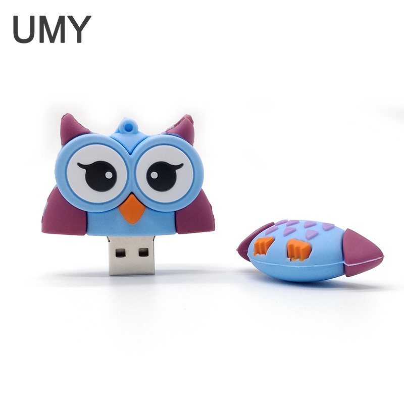 Two color usb flash drive 4GB 8GB 16GB 32GB pen drive cute animal owl pendrive memory stick u disk lovely computer gift