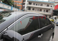 For Toyota camry 2015 Window Visor Vent Shade Rain/Sun/Wind Guard not fit for North America style