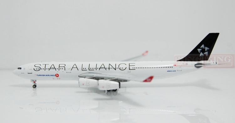 Phoenix 10998 Turkey Airlines TC-JDL A340-300 Star Alliance commercial jetliners plane model hobby spike wings xx4502 jc turkey airlines b777 300er san francisco 1 400 commercial jetliners plane model hobby
