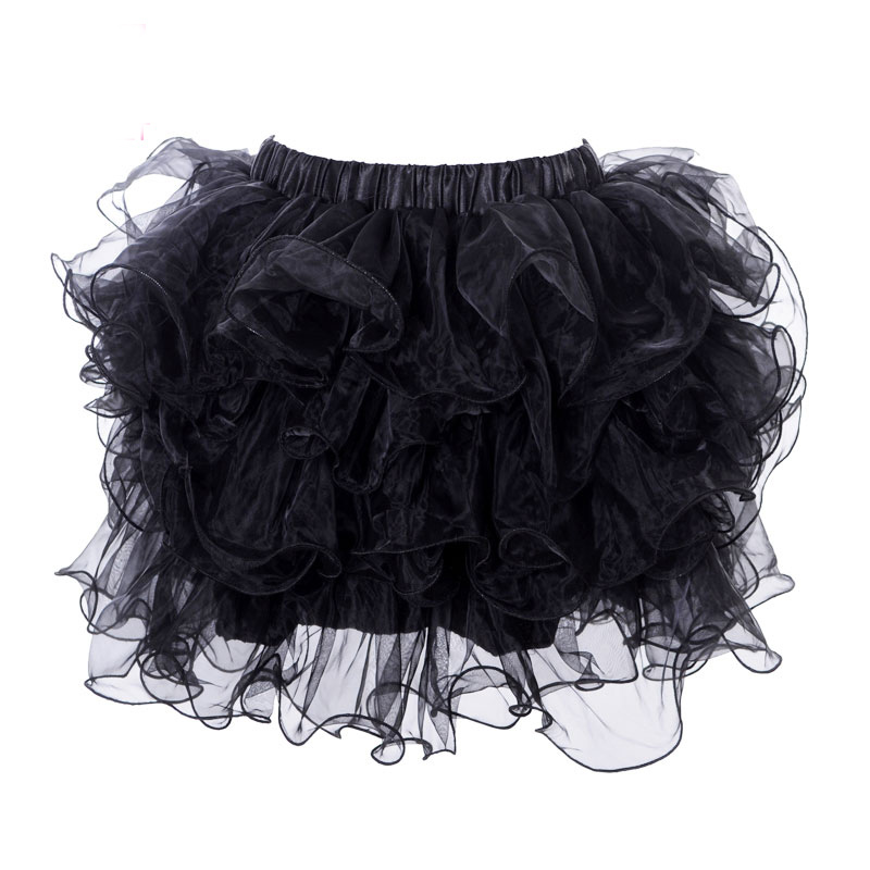 1224db8dc6 Black Multilayer Tulle Ruffles Ball Gown Pettiskirt Corset Pretticoat Mini Tutu  Skirt Club Wear Dancing Sexy Skirts For Women