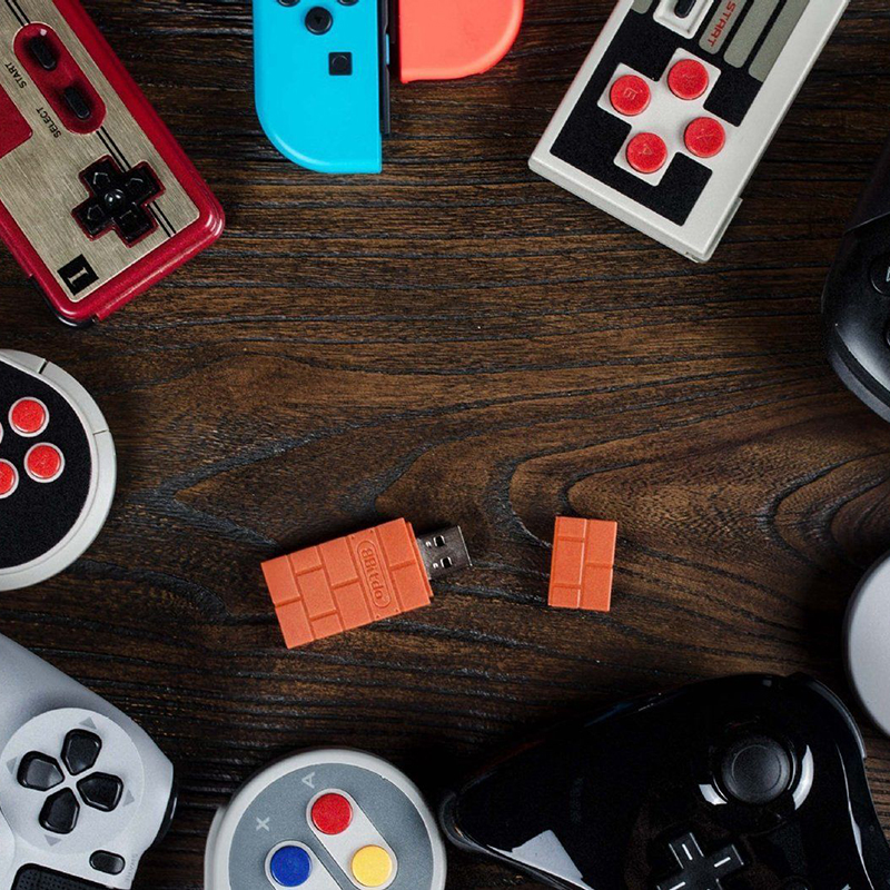 EastVita Portable 8Bitdo USB Wireless Bluetooth Adapter Gamepad Receiver for Windows/Switch Lightweight and compact size r29
