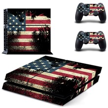 USA Flag America Vinyl Decal Flag Sticker For Sony PlayStation 4 Console Skins And PS4 Controller Skin Stickers