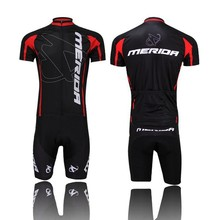 2016 Pro Team Merida Bike Cycling clothing/Cycling wear/ Cycling jersey Bicycle Outdoor Sportswear Short Sleeve Suite Black