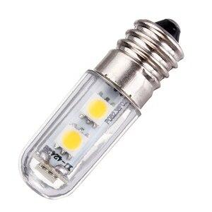 Image 2 - E14 スクリューベース Led 冷蔵庫ランプ電球 1 ワット 220V AC 7 Led SMD 5050 アンプル Led ライト冷蔵庫ホワイトホーム 1pc
