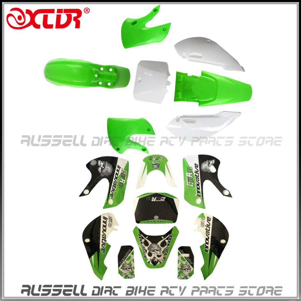 KLX110 PLASTICS Fenders STICKERS KIT For Kawasaki ATOMIK