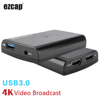 HDMI Game Capture Card with Mic,HD 1080P 60fps Video Record Capture can Twitch Hitbox Youtube Live Streaming for PS3 PS4 Xbox