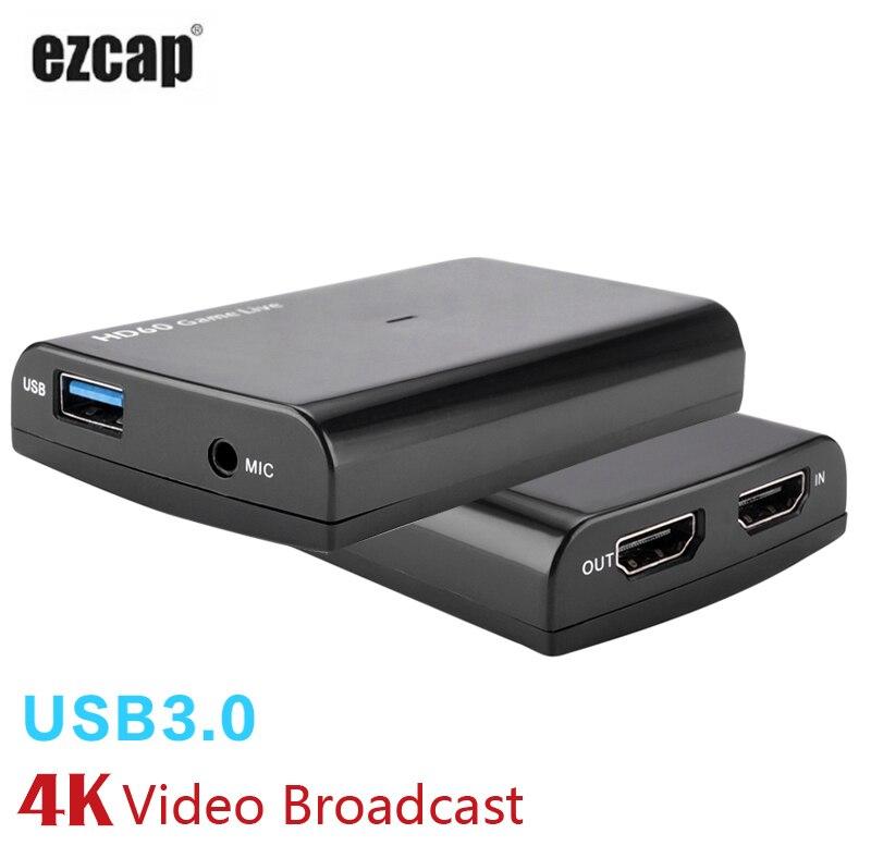 HDMI Scheda di Acquisizione di Gioco con Il Mic, HD 1080 p 60fps Video Record di Acquisizione può Contrazione Hitbox Youtube In Streaming per PS3 PS4 Xbox