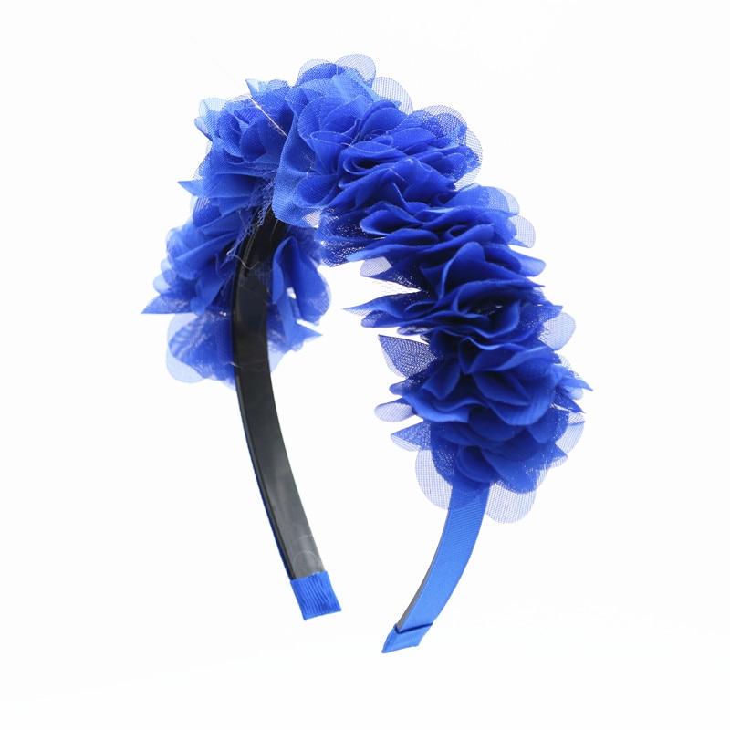 2018 nueva moda flor de seda de gasa alrededor de la cabeza niños - Accesorios para la ropa - foto 5