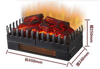 New model Electric fireplace simulation charcoal fake firewood Bonfire shoot props museum hall decorations art craft warm heater