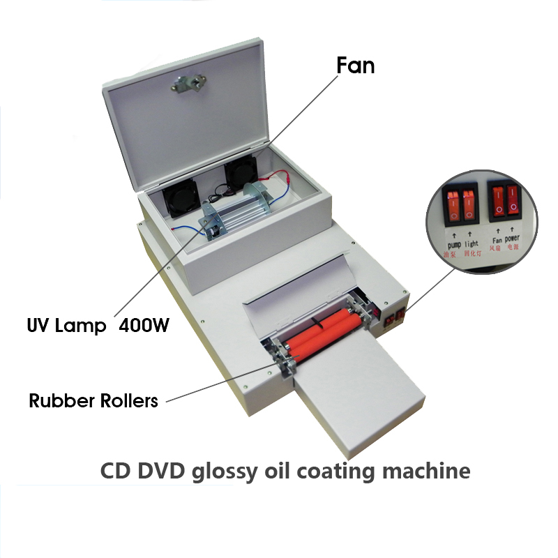 1 set DVD UV coating machine CD Laminating machine Desktop UV coater for CD laminating laser automatic cd disk uv coating machine laminating coater extrusion laminator with high quality on hot sales