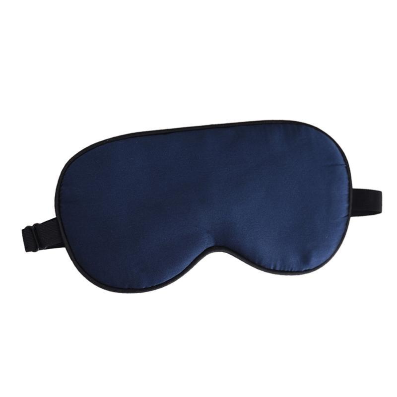 RUIMIO Natural Silk Sleep Eye Mask Cover Eyeshade Large Blindfold for Sleep Nap Meditation (Navy Blue)