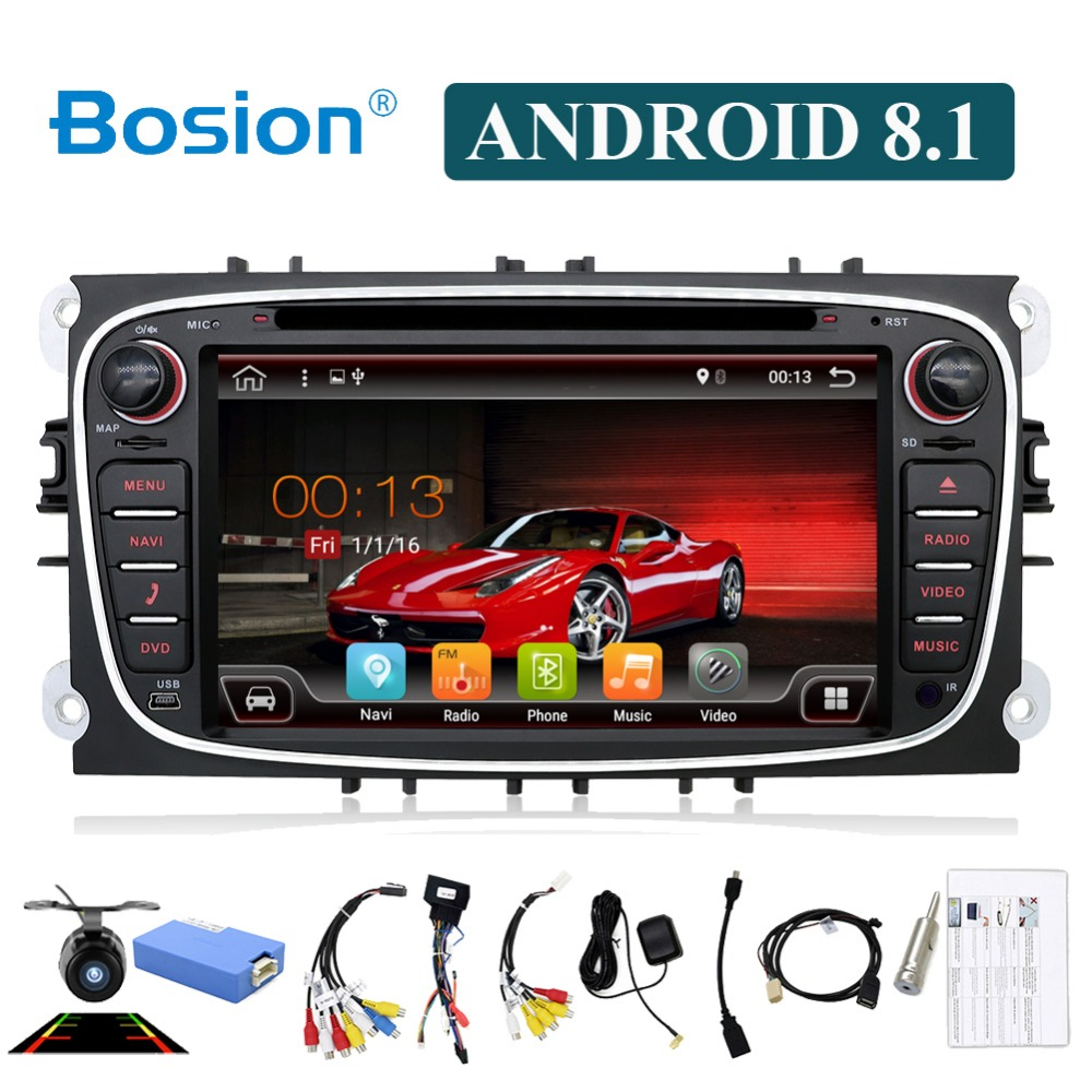 Bosion 2 din android 8 1 octa 8 cores car dvd player gps for Ford focus