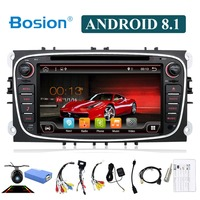 Bosion 2 din android 8.1 octa 8 cores car dvd player gps for Ford focus Mondeo S max smax Kuga c max radio head unit canbus wifi